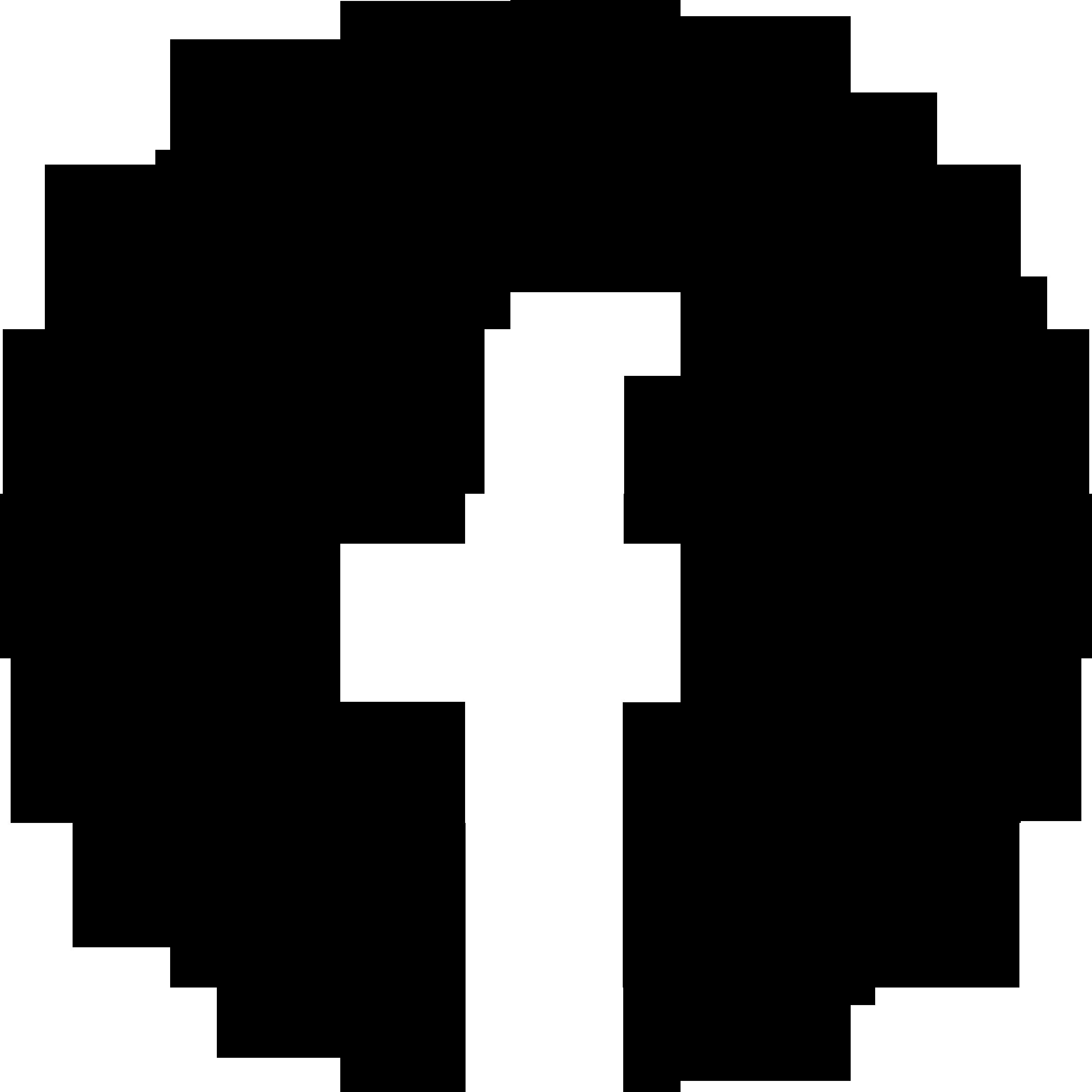 Free Black Cercle Facebook Logo Png